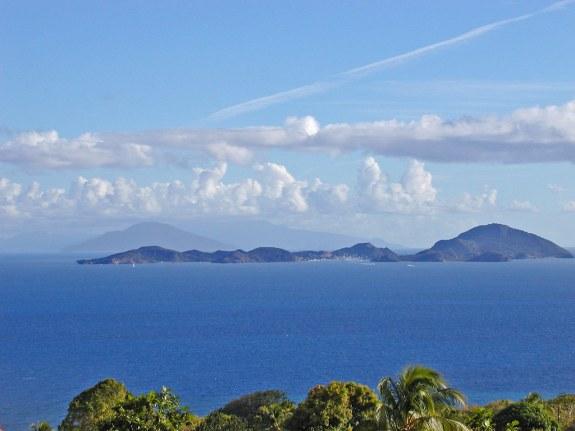 Guadeloupe (Vue sur les Saintes).